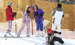 Skiers at Shemshak ski resort in northern Tehran