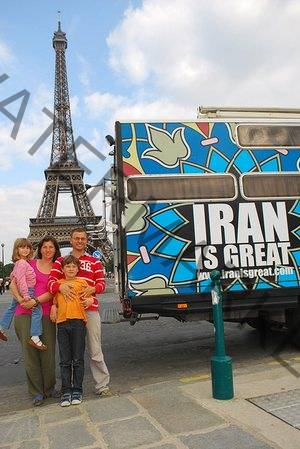 Cristian Florin Ivan and his family with their Iran vis Great an in Paris.