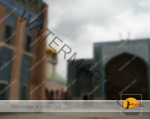 Courtyard between various structures of Sheikh Safi-al Din Shrine Complex