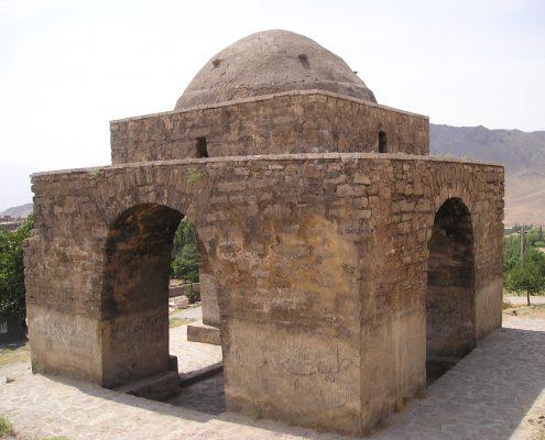 Calendar Building in form of a fire temple, Niasar, Iran