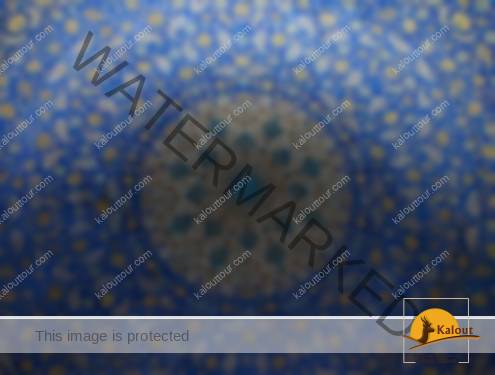 Ceiling of Imam Khomeini Mosque in esfahan