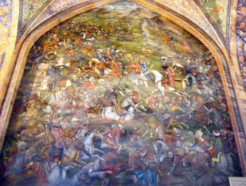 Mural Painting Inside Chehel Sotun Palace