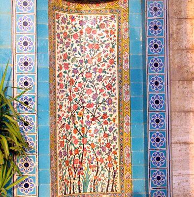 Tiles Decorating the Entrance of Saadi Mausoleum