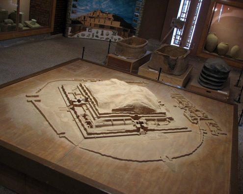 Model of Tchogha Zanbil Ziggurat Temple and its surrounding