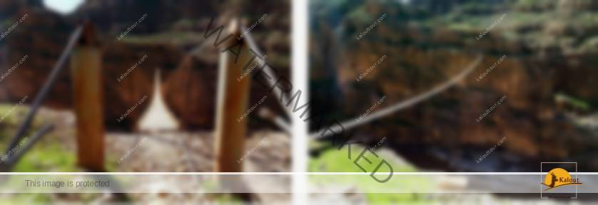 Walking on the bridge Khazine Valley