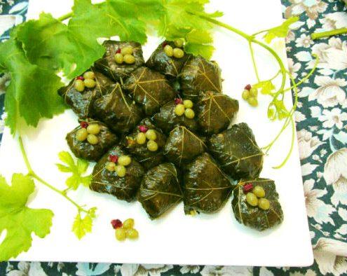 Dolmeh-Barg-e-Mo-495x394 How to Cook Stuffed Grape Leaves (Dolmeh Barg-e Mo) Persian Food Iranian Traditional Food Iranian Gastronomy Iranian Cuisine Iran Food