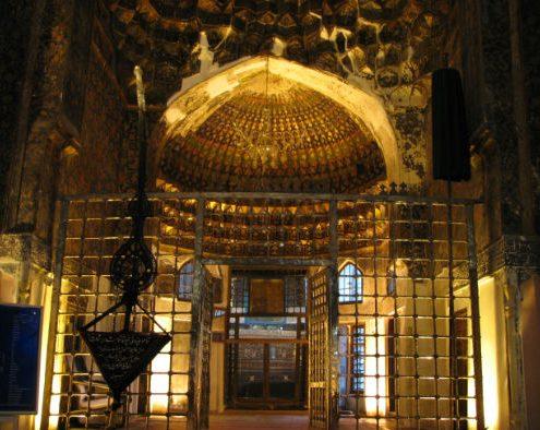 The ceiling inside the Sheikh Safi al-Din Shrine