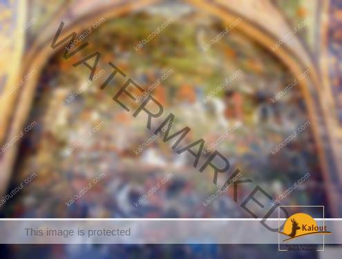 mural-painting-chehel-sotun-495x375 A Walking Tour of Esfahan in Half a Day Traveling in Iran Tourist Attractions Imam Komeini Square Esfahan