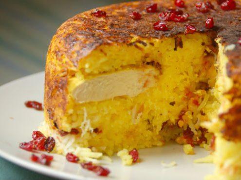 tahchin-Pesrian-rice-cake-495x369 Amazing Tahchin  a Persian Rice Cake Tahchin Persian Rice Cake Persian Dish Iranian Gastronomy Iranian Food Iran Food