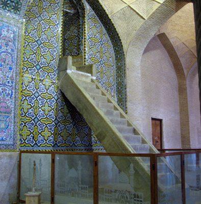 vakil-mosque-minbar-394x400 Visit Vakil Mosque of Shiraz While Traveling in Iran Zand Dynasty Traveling in Iran tourism Shiraz