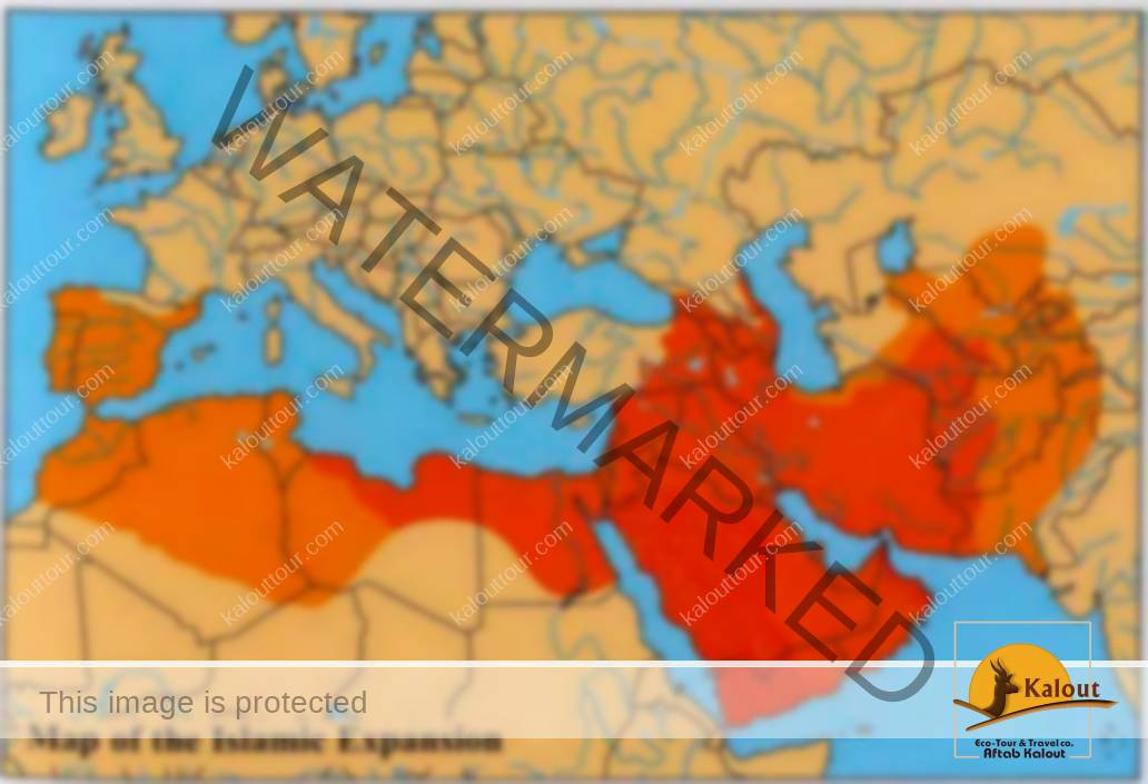 7030_58_105-umayyad-empire History of Iran (7500 BC - 1979 AD) History of Iran