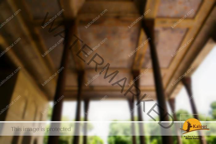 Only 20 columns support the ceiling of the Chehel Sotun, or Forty Column Palace. The other 20 are created by the reflection in the pool at the entrance to the palace.